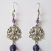 Custom Earring Design: Purple Beads