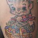 Sewing Kitty tattoo