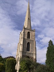 Spire of the medieval church of Saint Andrew, Worcester