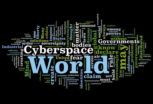 Declaration of Independence of Cyberspace Wordle