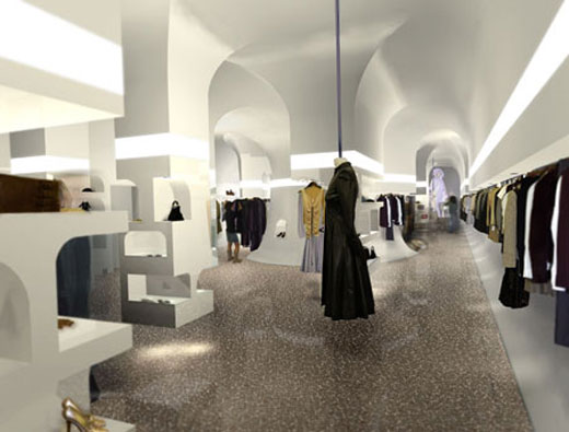 Alexander mcqueen luxurious retail store interior by for Retail interior design agency london