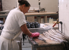 Hard at Work at Funchal's Fish Market