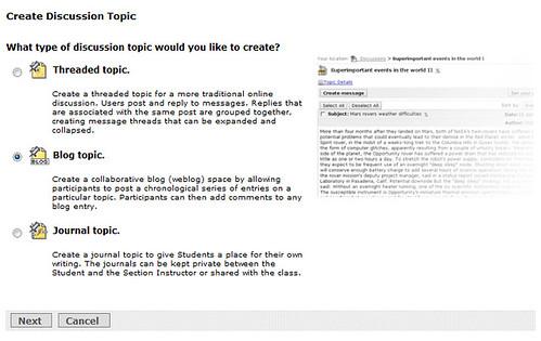 Blackboard has Blogs, Really!