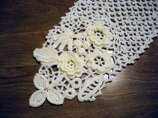 Irish Crochet Scarf Motifs Flickr Photo Sharing