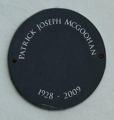 Patrick McGoohan Plaque