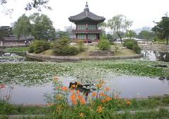 Hyangwonjeong (pavilion) and Hyangwonji (pond), Gyeongbok Palace, Seoul