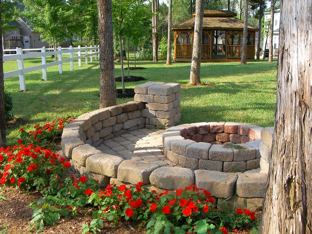 fire pit gazebo stereograph | Flickr - Photo Sharing!
