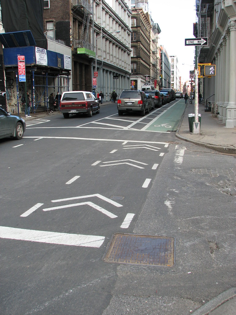 Grand Street Buffered Bike Lane