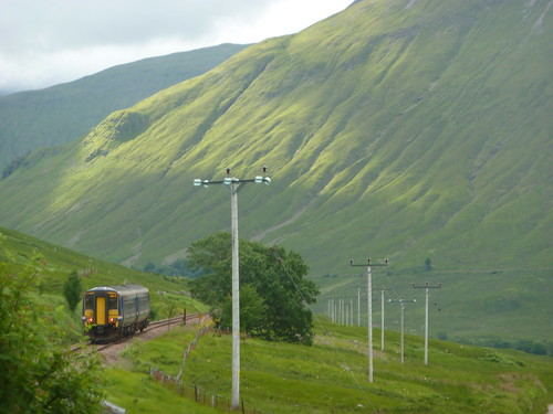 The Glasgow train skirts Beinn Dórain