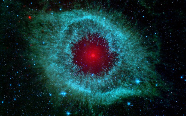 Infrared Visible Light Comparison View Of The Helix Nebula: Flickr - Photo Sharing