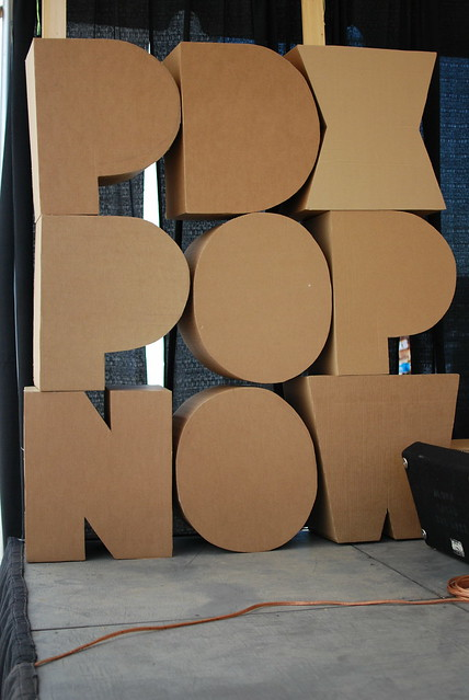 Pdx pop now cardboard letters flickr photo sharing for 24 cardboard letters