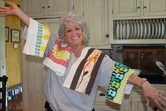 Paula Deen with my dishtowels