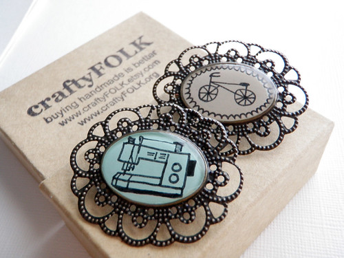 Sewing Machine and Bicycle Cameos