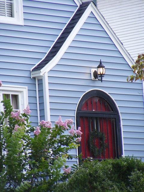Blue house red door flickr photo sharing - House with blue door ...
