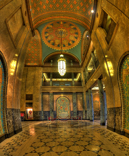 Fisher Building Lobby - Detroit Michigan - Vertorama 3x