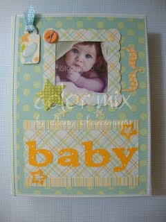 álbum scrapbook - bebê menino