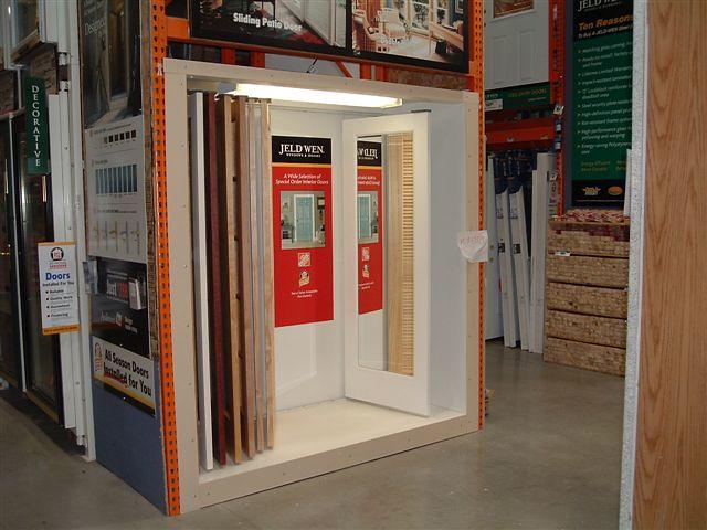 jeld wen interior door display home depot flickr