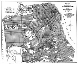 Map of the City and County of San Francisco, 1924, to accompany Report of the City Engineer on Municipal Railway Extensions, Feb 27, 1925