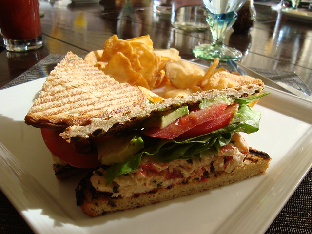 Lobster Club Sandwich w Chips | both were just OK, and I did ...