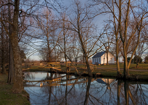 bridge school reflection water missouri piercecity jollymill