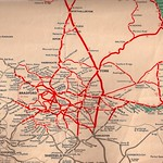 British Railways - North Eastern Region - Yorkshire area railway map - 1959