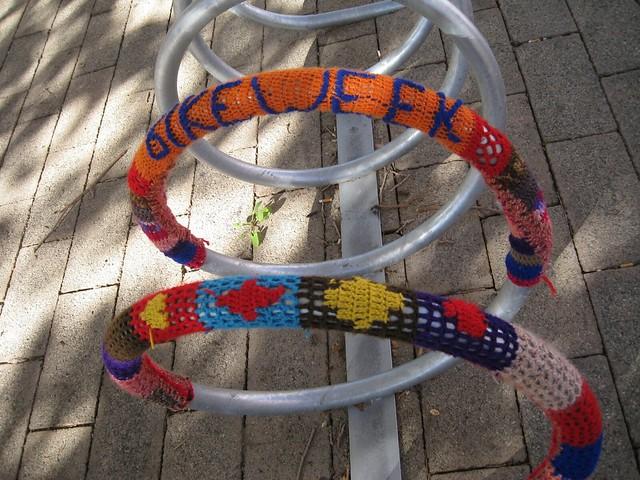 Graffiti Knitting Epidemic : Knitted graffiti a gallery on flickr