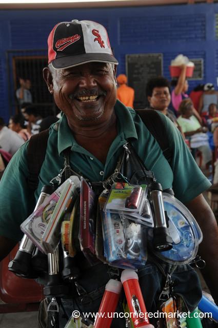 Jolly Vendor of All Things Flashlight - Rivas, Nicaragua