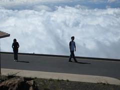 Haleakala National Park, Maui: Kalahaku Overlook - Jenny and John