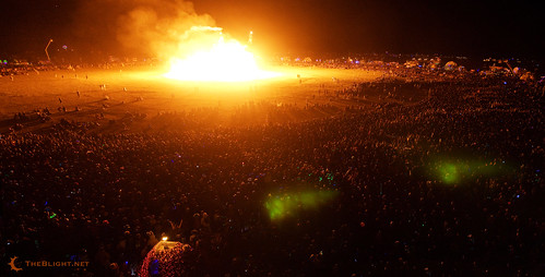 Burn Night and the citizens of Black Rock City: a panorama, 2009