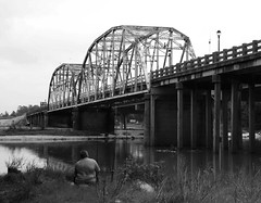 Old Hwy 59 Bridge over San Jacinto River, Humble, Texas 1004091634BW