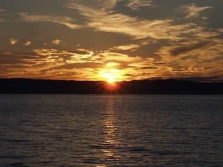 Sonnenuntergang am Vättern