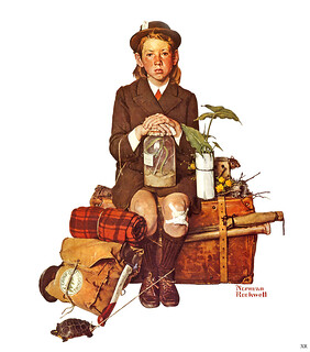 "1940... ""Returning From Camp"" -by Norman Rockwell"