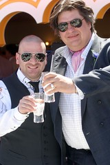 Matt Preston and George Calombaris at the Emarites Marquee - Derby Day 2009