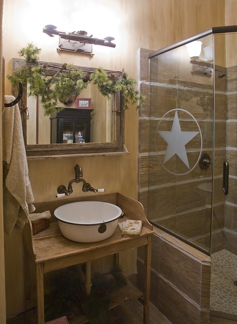 By design interiors cowboy theme bathroom flickr for Cowgirl bathroom ideas