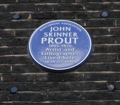 Photo of John Skinner Prout blue plaque
