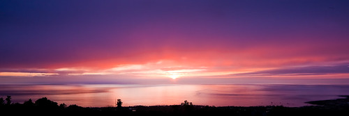 ocean sunset reflection home hawaii wide calm orphanage bigisland kona holualoa 4268