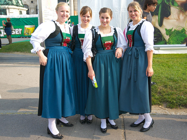 """Traditional German clothing and Bavarian"