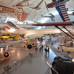 Steven F. Udvar-Hazy Center: south hangar panorama, including Air France Concorde, De Havilland-Canada DHC-1A Chipmunk Pennzoil Special among others