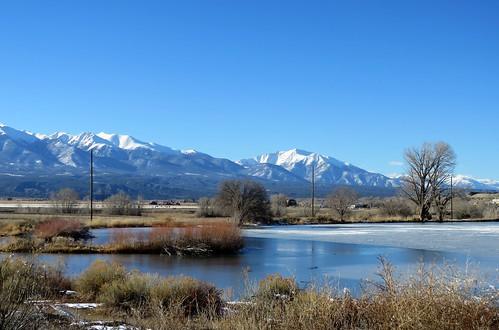 frantzlake frozen ice mountains swa statewildlifearea lake salida colorado snow winter mountain sawatch sawatchrange