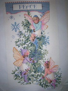 Fairies and Snowflakes Stocking complete