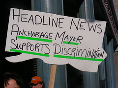 """Headline news: Anchorage mayor supports discrimination"""
