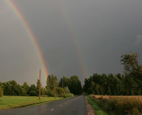 landscape rainbow latvia lettland