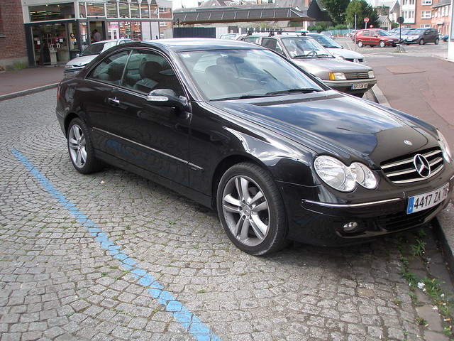 mercedes clk 220 noire flickr photo sharing. Black Bedroom Furniture Sets. Home Design Ideas