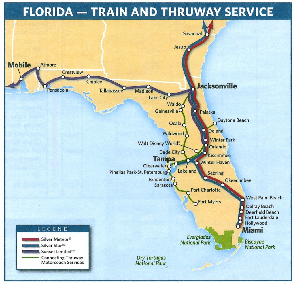 Amtrak's Florida routes in 2009 | This Amtrak system map sho… | Flickr