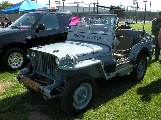 Navy Jeep Shore Patrol WW II