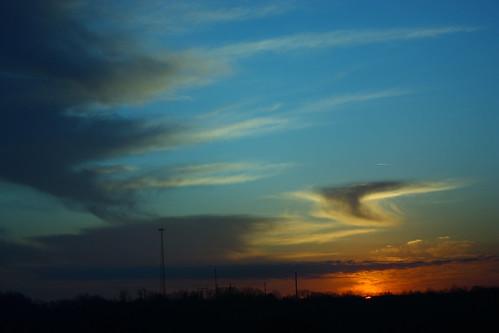 sunset sky sun skyline clouds sunrise canon xsi waynesville lent454