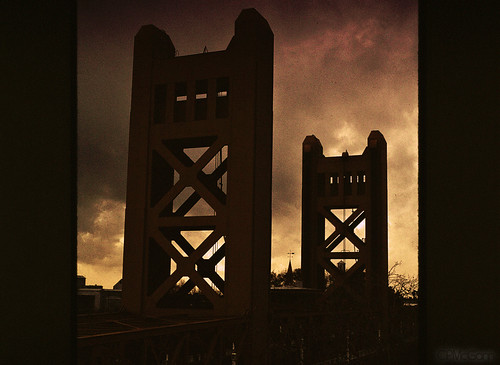 bridge film silhouette clouds towerbridge interesting sacramento sacramentoriver