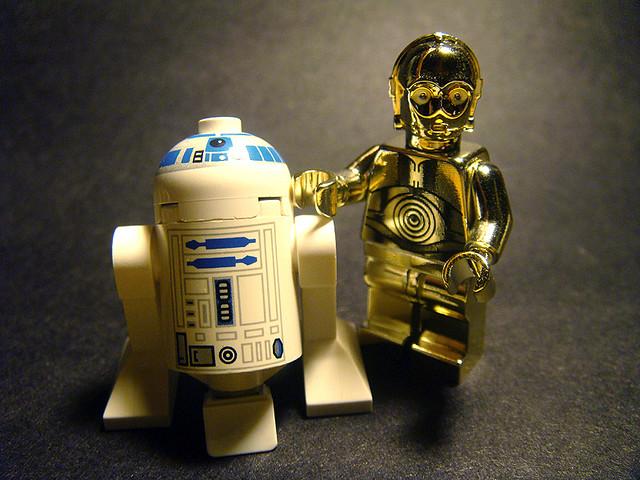 R2d2 And C3po Lego Chrome C3PO & R2D2...
