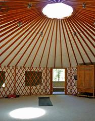 ceiling, interior design, yurt, dome,
