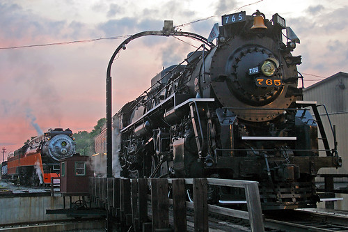 765 and 4449 at Sunset